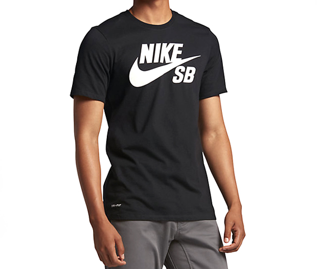 Nike SB Logo Tee Black / White