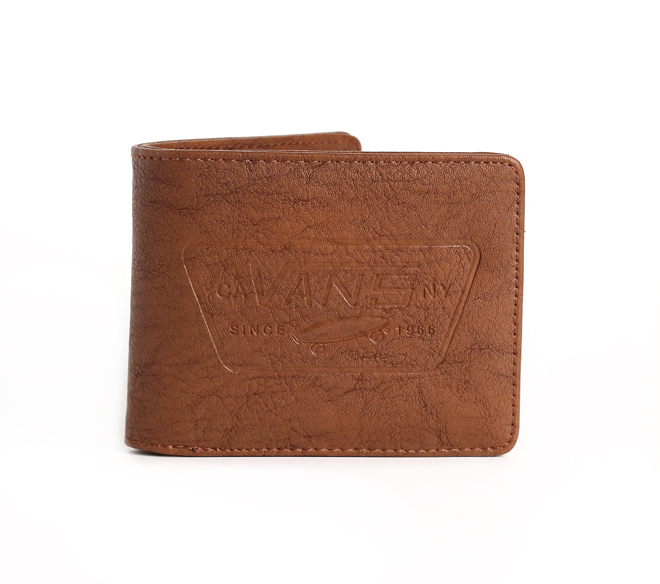 797662527a3097 Vans Full Patch Bifold Wallet Golden Brown - Boardvillage
