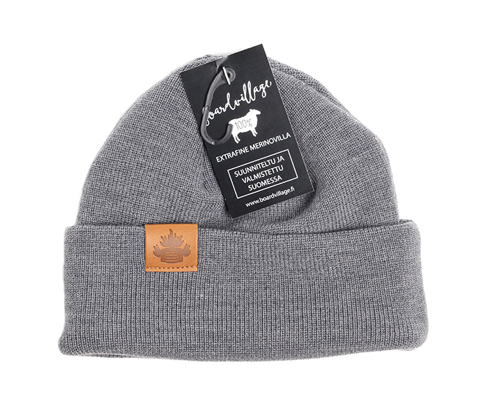 Boardvillage Merino Tervatynnyri Beanie Dark Grey