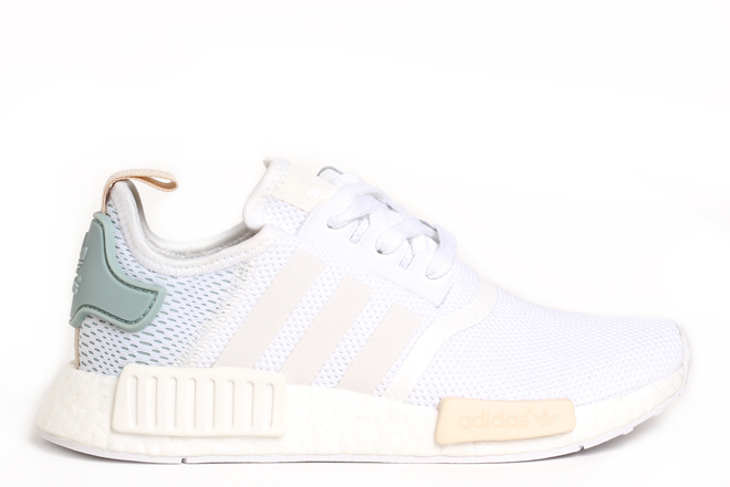 Adidas Womens NMD_R1 White / Tactile Green
