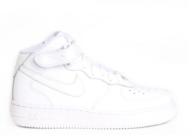 Nike Air Force Mid 1 White / White