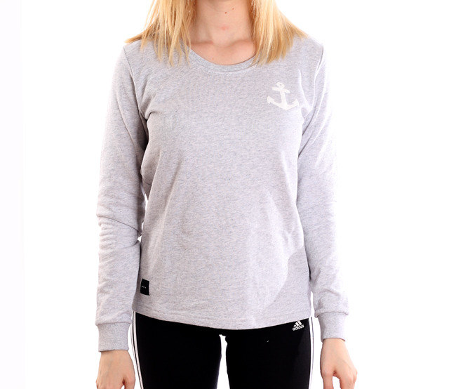 Makia Womens Anchor Longsleeve Grey