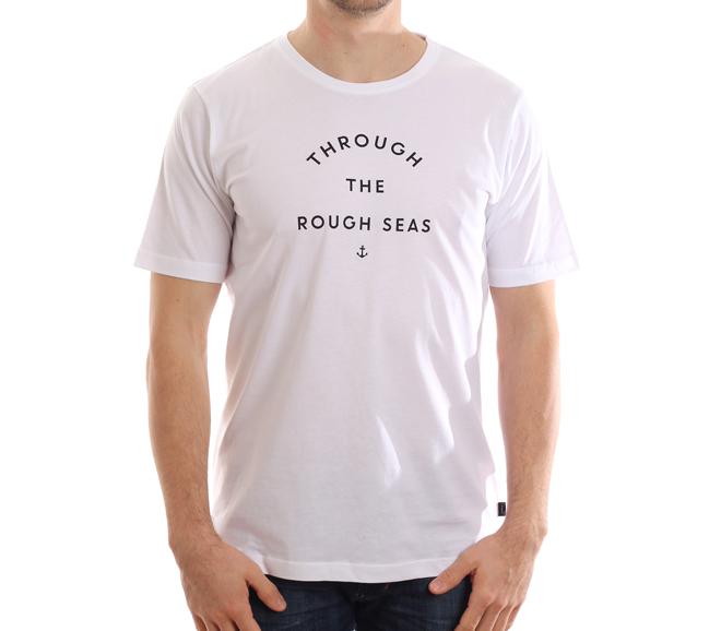 Makia Rough Seas Tee White