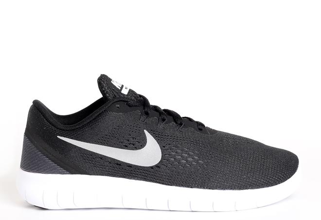 Nike Free RN Black / Metallic Silver - Anthracite