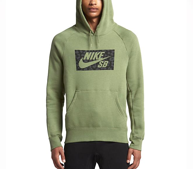 Nike SB Icon Hoodie Palm Green