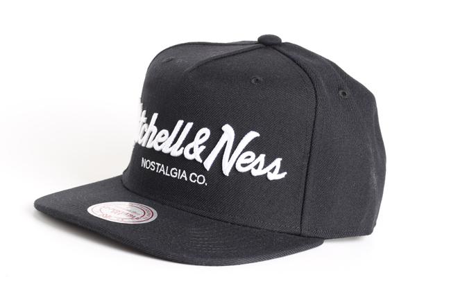 Mitchell & Ness Pin Script Snapback Black