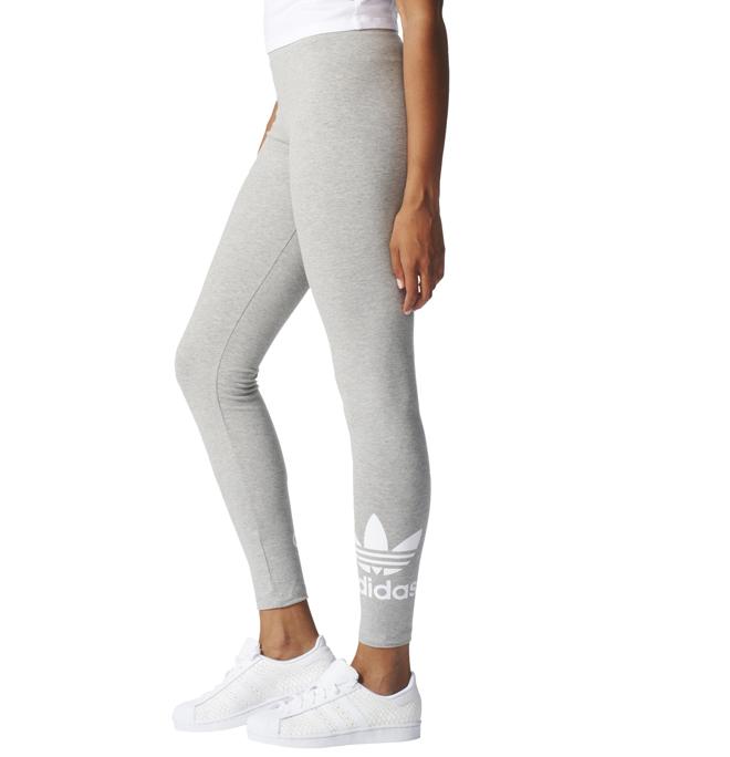 af23d1285e0 Adidas Originals Trefoil Leggings Medium Grey Heather / White ...