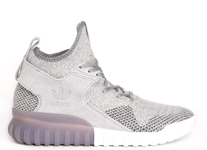 Adidas Tubular X Primeknit Charcoal / Solid Grey