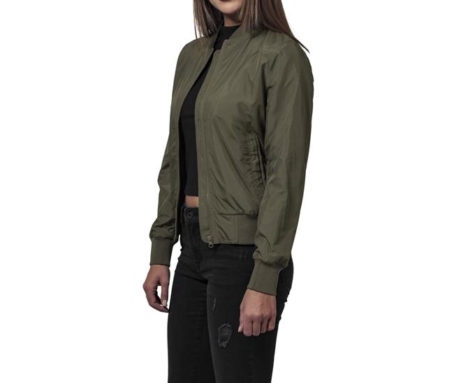 Urban Classics Womens Light Bomber Jacket Dark Olive