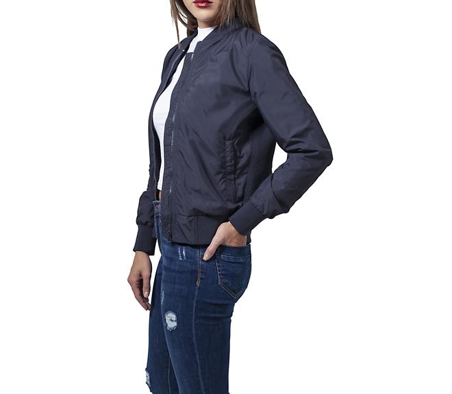 57d68431df230 Urban Classics Womens Light Bomber Jacket Navy - Boardvillage