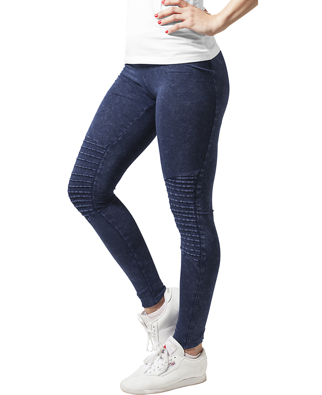 Urban Classics Womens Denim Jersey Leggings Indigo