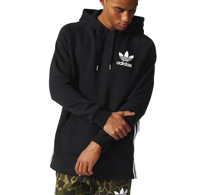 Adidas Long Hoodie Black