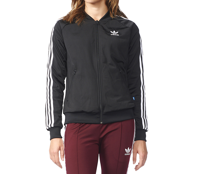 Adidas Womens Superstar Track Jacket Black