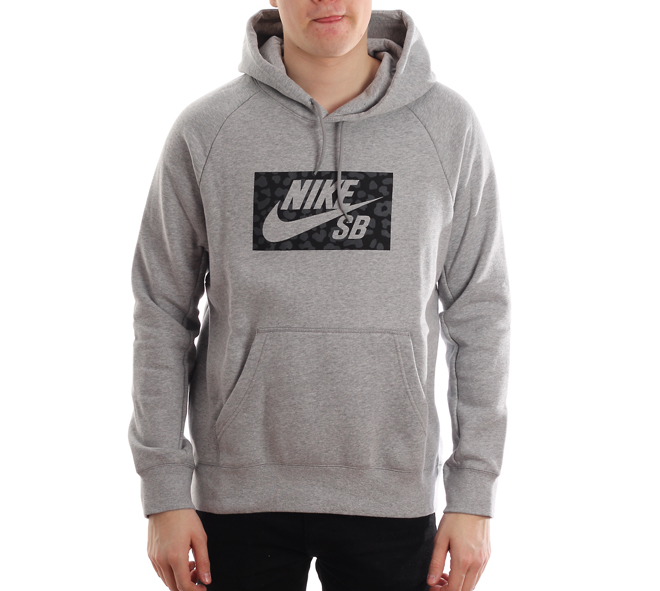 Nike SB Icon Hoodie Spots Dark Grey Heather