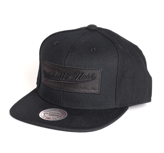 Mitchell & Ness Box Logo Snapback Black