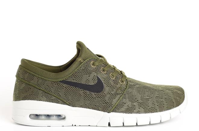 Nike SB Janoski Max Legion Green / Black - Pure Platinum