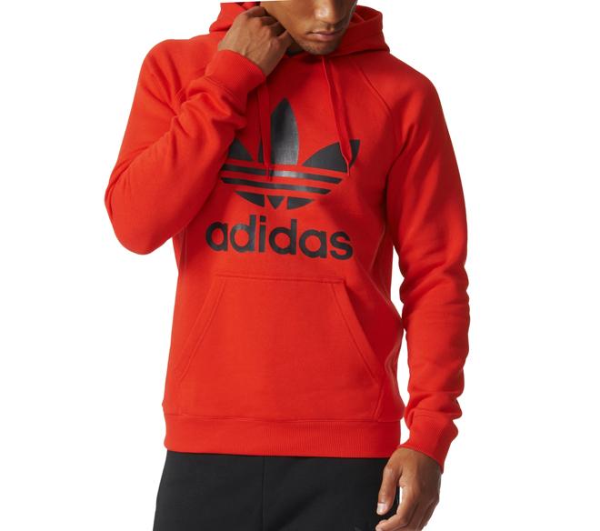 Adidas Originals Trefoil Hoodie Core Red Boardvillage