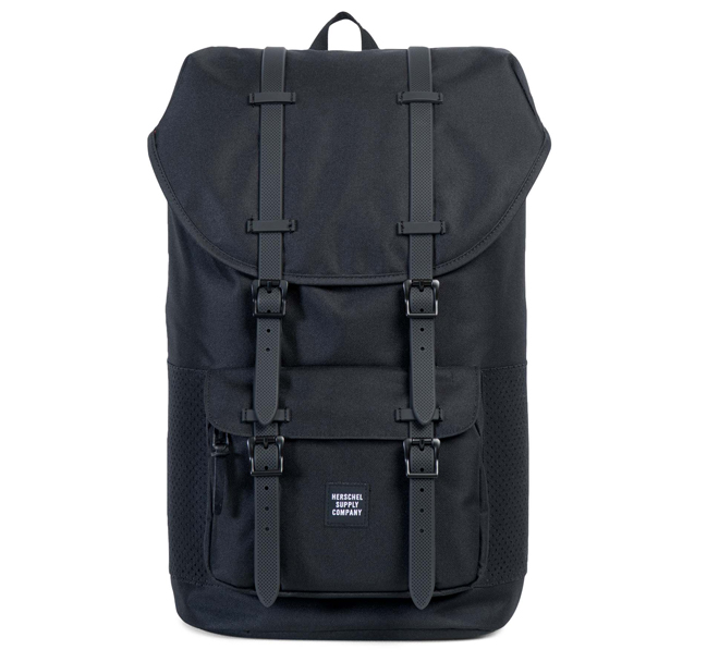 Herschel Little America Backpack Black   Black Rubber - Boardvillage 9334d09cb7