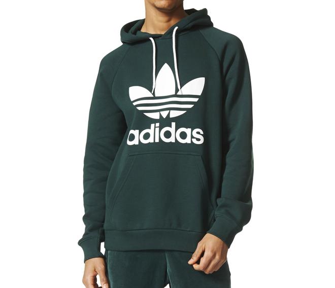 Adidas Originals Trefoil Hoodie Green Night Boardvillage