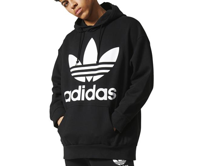 Adidas Originals ADC Fashion Oversized Hoodie Black - Boardvillage f75a4de4a4