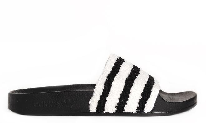 0e368d7e3ca1 Adidas Adilette Core Black   White - Boardvillage