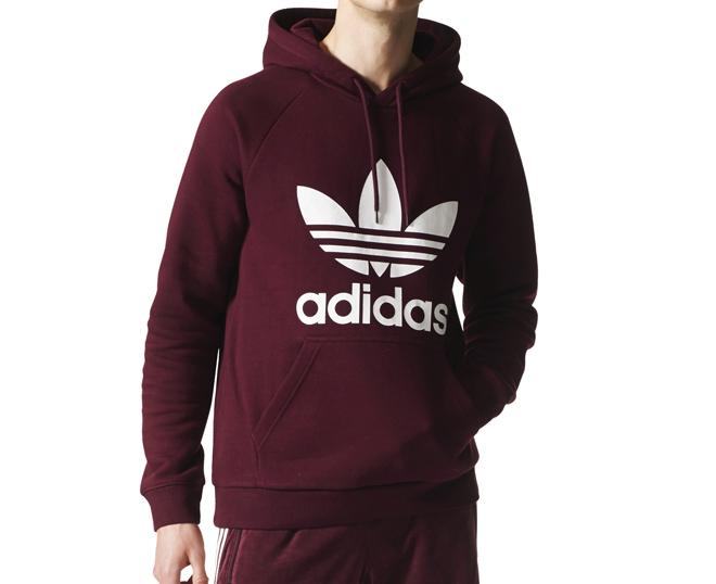 Adidas Originals Trefoil Hoodie Maroon - Boardvillage 4645fca037