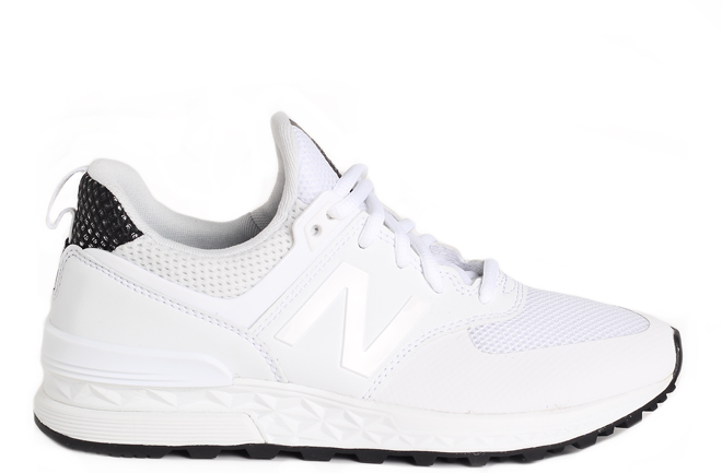 best service 25161 f37ac New Balance Womens 574 Sport White / Black - Boardvillage