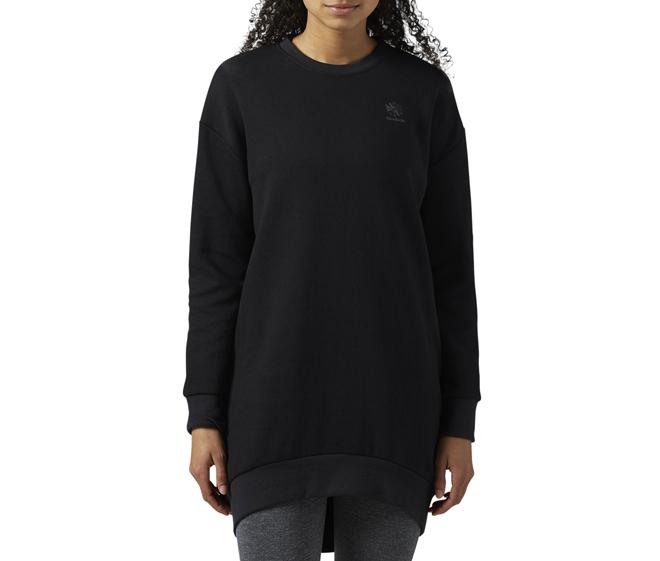 Reebok Womens Oversized Sweatshirt Black