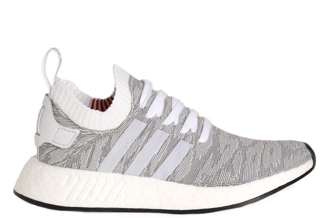 Adidas NMD R2 Primeknit Running White   Running White   Core Black ... 2aa6c0480