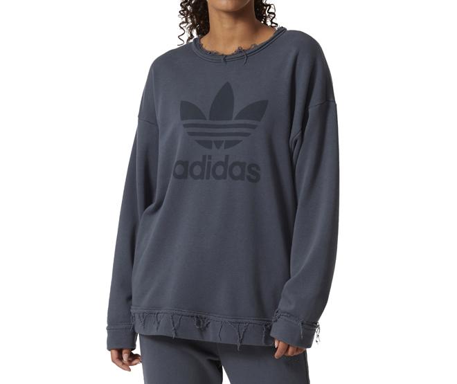 footwear multiple colors separation shoes Adidas Womens Trefoil Sweatshirt Bold Onix - Boardvillage