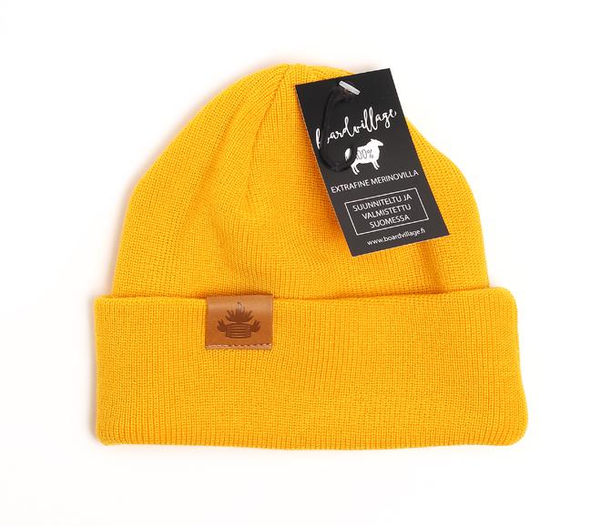 Boardvillage Merino Tervatynnyri Beanie Yellow