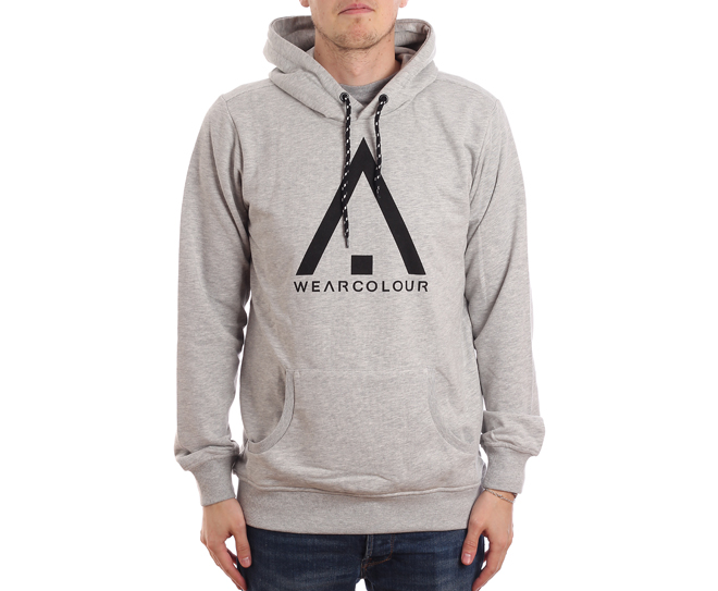 Wear Colour Wear Hoodie Grey Melange