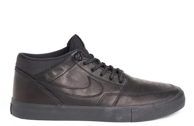 Nike SB Portmore II Mid Solarsoft Premium Black / Black