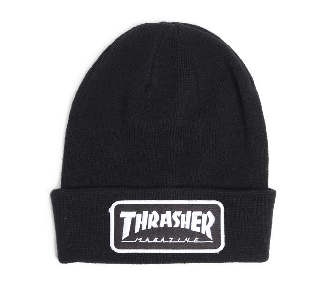 Thrasher Patch Beanie Black