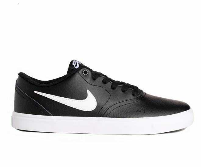 Nike SB Check Solarsoft Leather Black