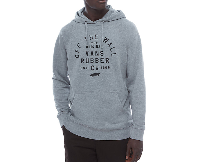 Vans Stacked Rubber Hoodie Concrete Heather