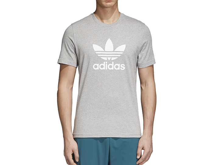 Adidas Originals Trefoil Tee Medium Grey Heather