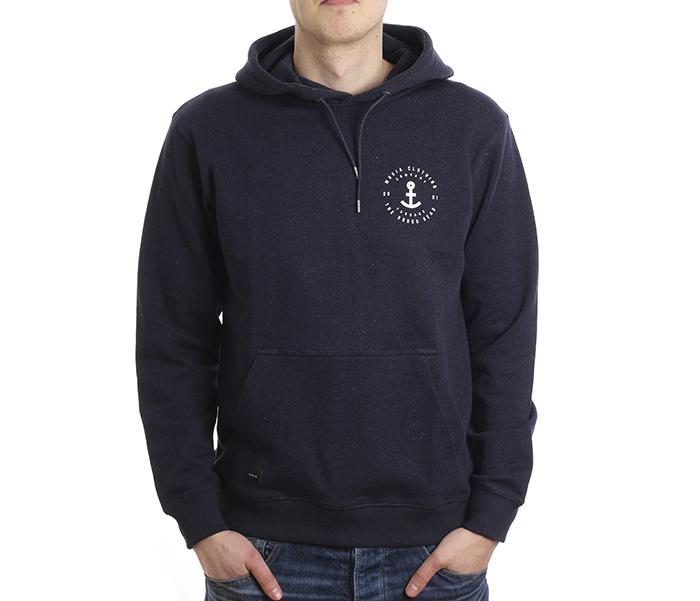 Makia Aweigh Hooded Sweatshirt Navy