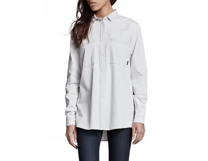 Makia Womens Strand Shirt Washed Grey