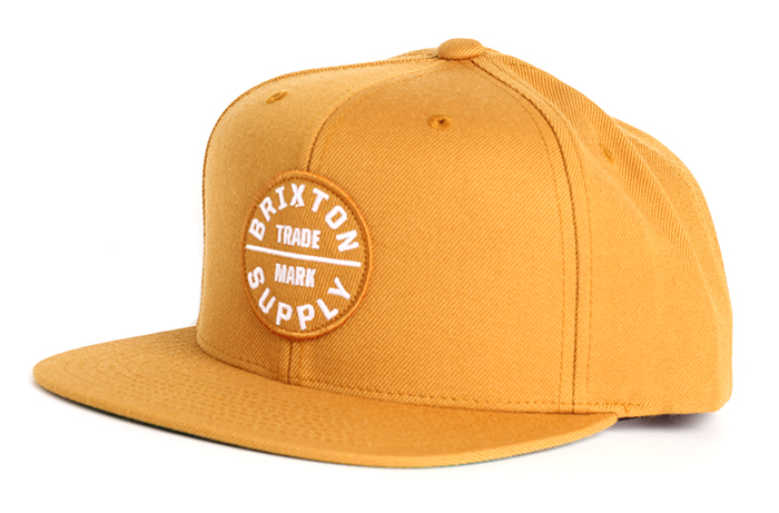 0ffc628345105 Brixton Oath III Snapback Copper   White - Boardvillage