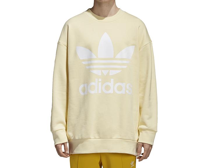 Adidas Trefoil Oversize Crew Sweatshirt Mist Sun