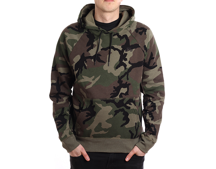 Nike SB Icon Hoodie ERDL Medium Olive Black Boardvillage