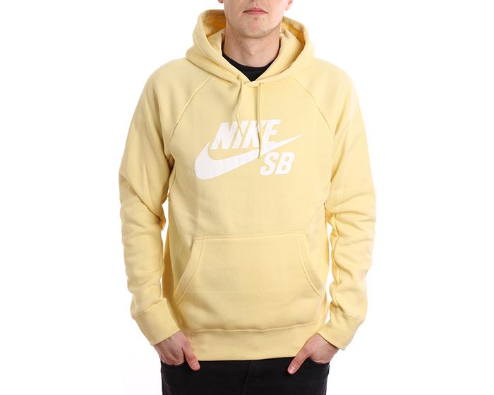 Nike SB Icon Hoodie Lemon Wash / White