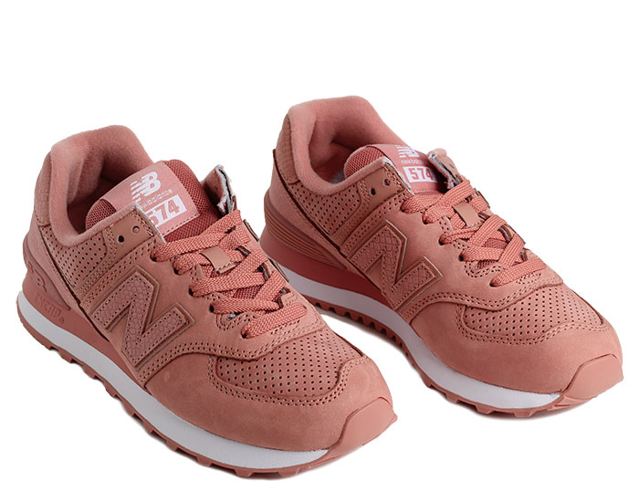 new balance 574 serpent luxe dusted peach
