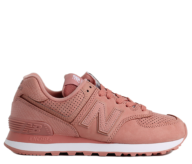 3d3803eb3 New Balance Womens 574 Serpent Luxe Dusted Peach - Boardvillage