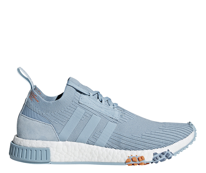 42be1370f1f Adidas Womens NMD Racer Primeknit Ash Grey   Blue Tint ...