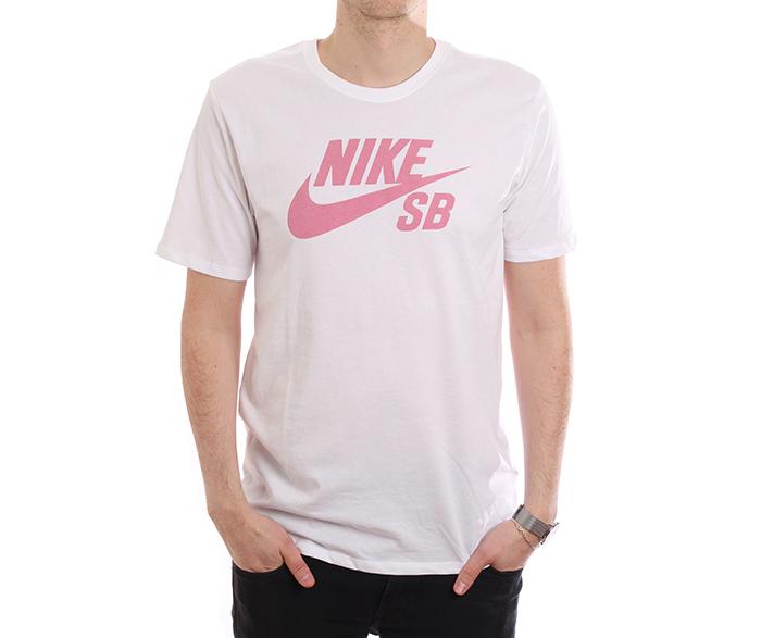 Nike SB Logo Tee White / Elemental Pink