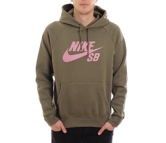 Nike SB Icon Hoodie Medium Olive / Elemental Pink
