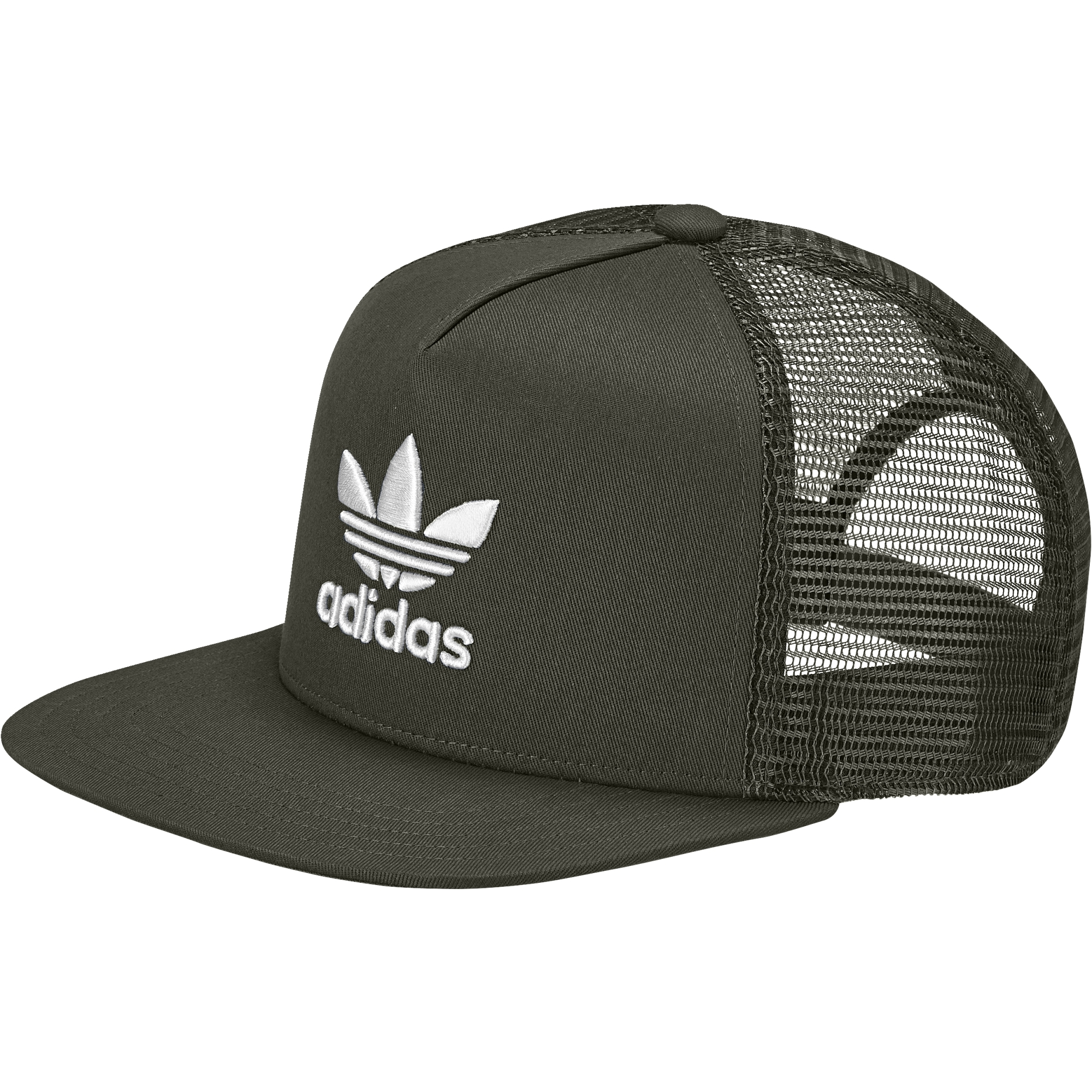 Adidas Trefoil Trucker Cap Night Cargo   White - Boardvillage 2f5da0758a5