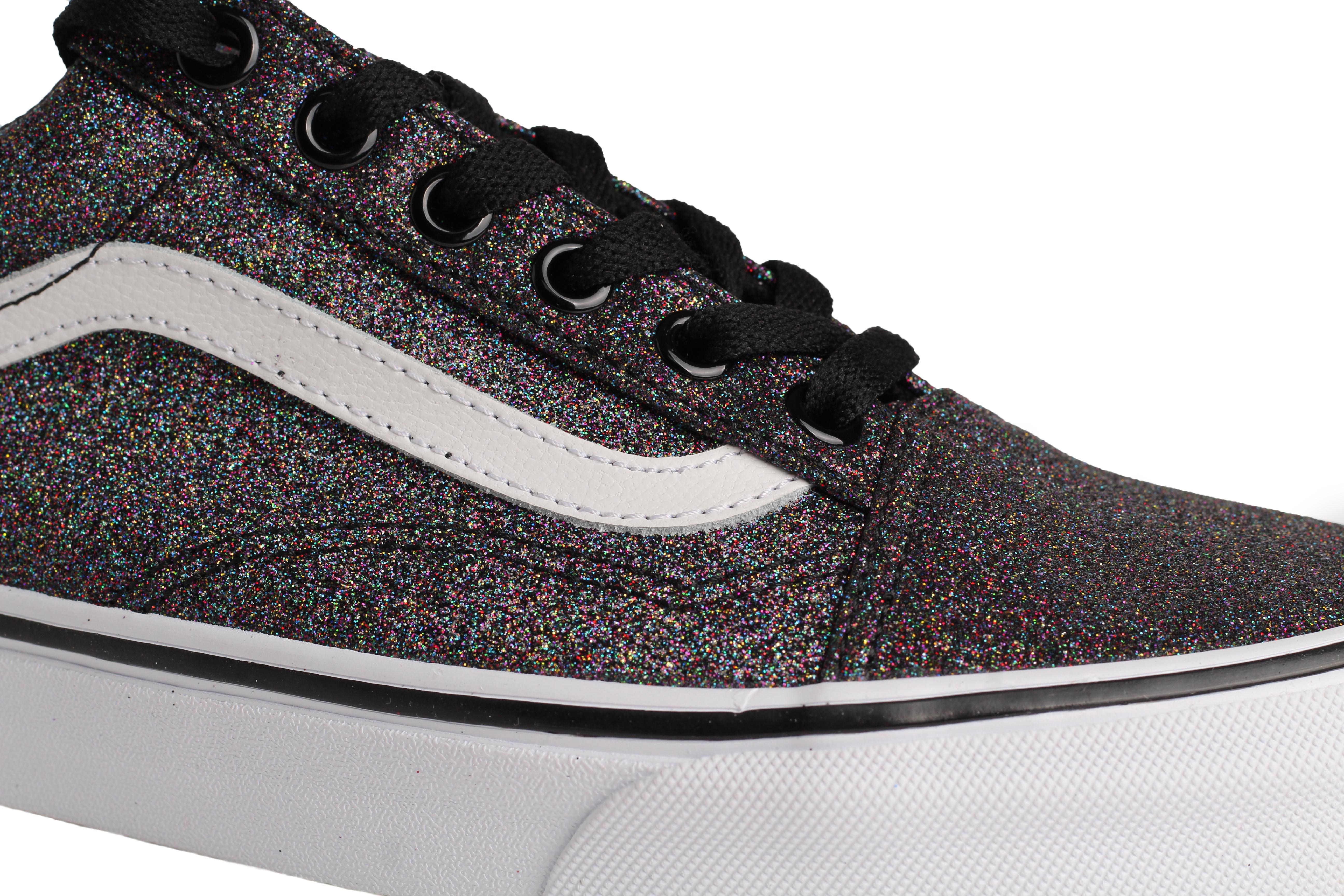 vans rainbow glitter